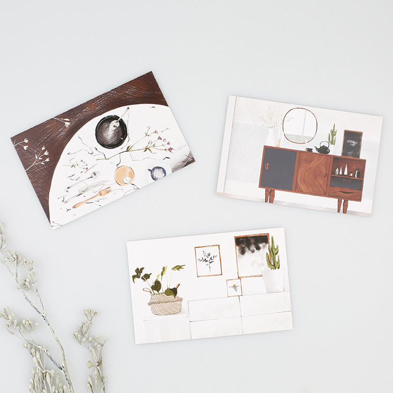 30 Sheets/set Simple Style Postcard Set Creative Greeting Card Message Card Gift Card School Office Supplies