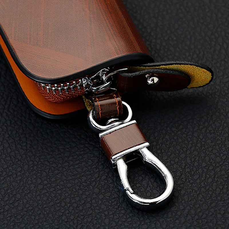 Sncn Genuine Leather Car Key Chain Wallets Cover Case Bag For