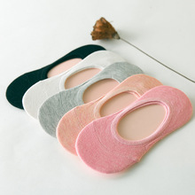 Invisible-Socks Non-Slip Silicone Spring Female Summer Women 5-Pairs 10pieces Shallow-Mouth