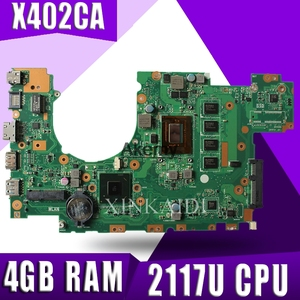 X402CA X502CA Laptop motherboard for ASUS X502C X402C F502C F402C Mainboard for laptop with 4 g RAM 2117U CPU Tests 100% OK(China)