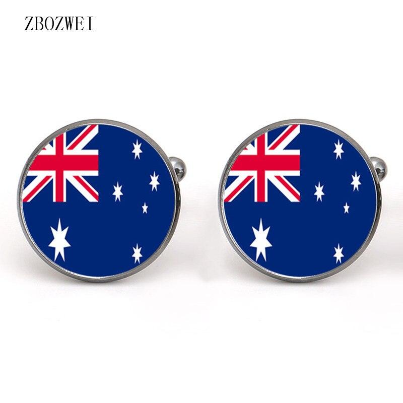 2018 Hot Australian Flag Time Cufflinks