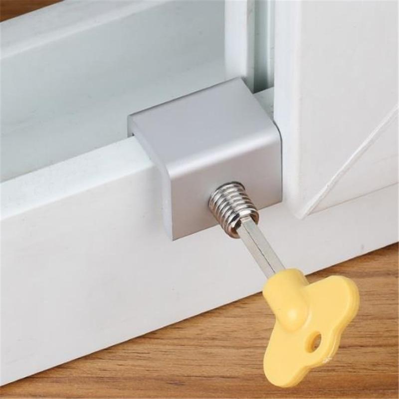 High Quality Move Window Child Safety Lock Sliding Windows Lock Security Sliding Sash Stopper Baby Care