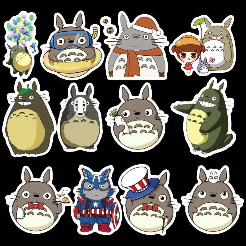 50 قطعة الكرتون لطيف الحيوانات Totoro الملونة ملصقات مقاومة للماء مجموعة دفتر الثلاجة الغيتار لوح التزلج شخصية ملصقات