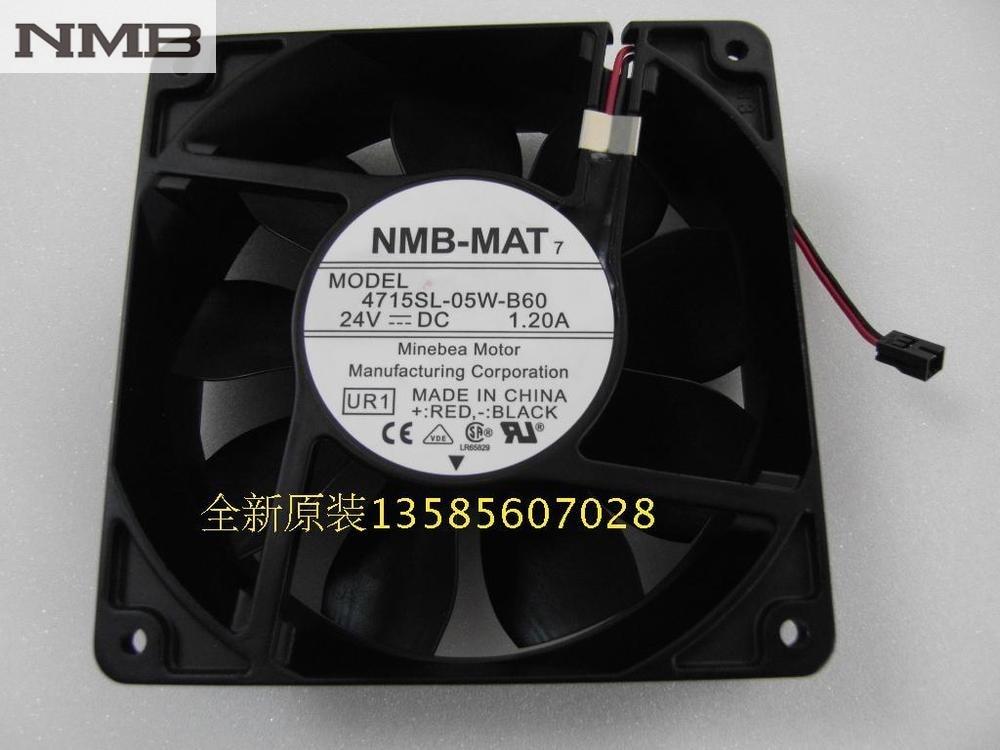 NMB Blowers 4715SL-05W-B60 1238 24V IP55 waterproof fan new original nmb 4715sl 05w b60 dc24v 1 2a 12038 inverter waterproof cooling fan