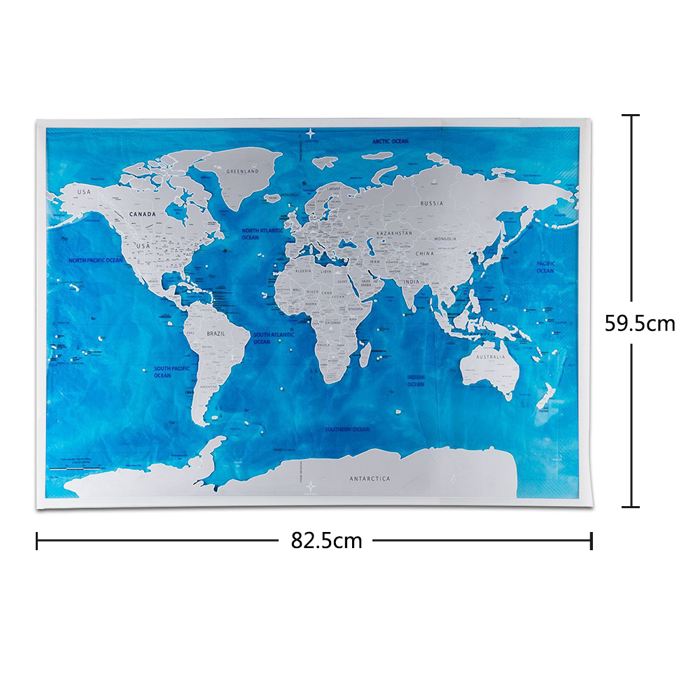 Yazi scratch map travel wall sticker blue ocean traveler scratch yazi scratch map travel wall sticker blue ocean traveler scratch off personalized world map poster travel footprint record in wall stickers from home gumiabroncs Choice Image