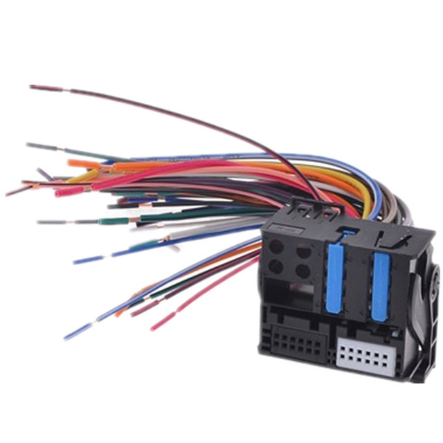 Female Plug DVD Audio Wire Harness Wiring Harness Car Stereo Radio Adapter Electronic Cable for VW_640x640 aliexpress com buy female plug dvd audio wire harness wiring Wiring Harness Diagram at bakdesigns.co