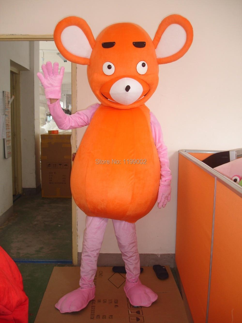 Nouveau tir à chaud de haute qualité souris rouge dessin animé mascotte costume livraison gratuite pour Halloween fête événement