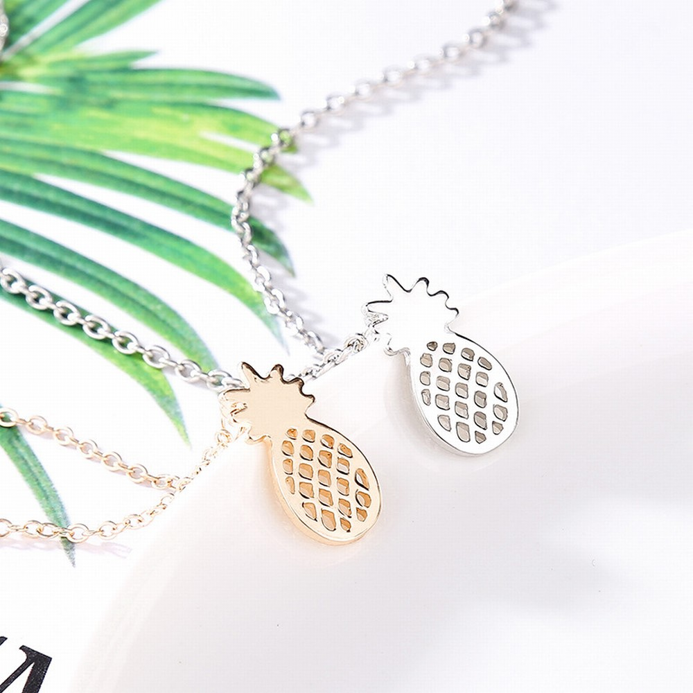 Pineapple Necklace Gold & SIlver