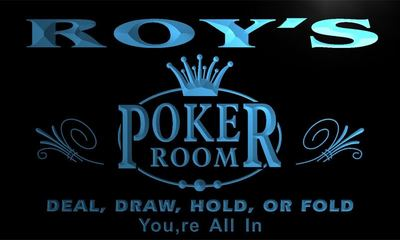 x0065-tm Roys Poker King Room Custom Personalized Name Neon Sign Wholesale Dropshipping On/Off Switch 7 Colors DHL