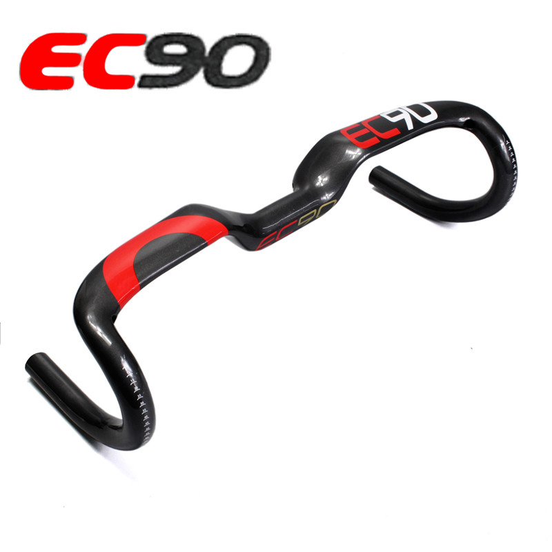 2017 New EC90 carbon fiber carbon fiber highway bicycle thighed handle carbon handlebar road bike handlebar 31.8*400 420 440MM ec90 carbon fiber rest handlebar tt handlebar ultralight road bike bicycle aero handle bar 400 420 440mm