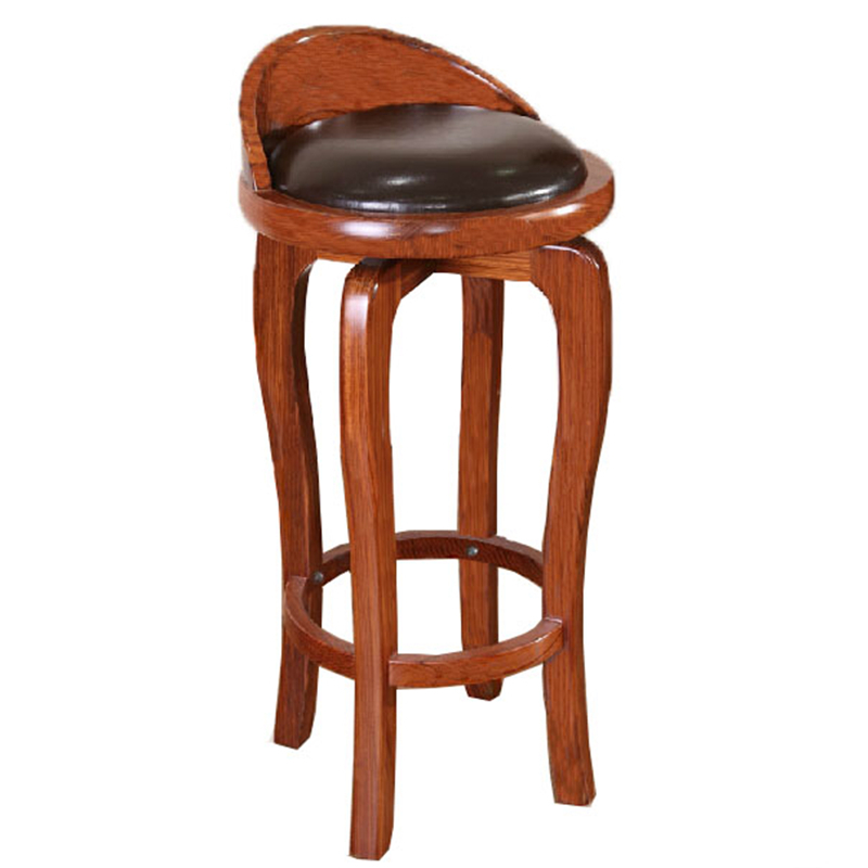 wooden home stool 360 degree rotating high foot leather bar chair FREE SHIPPING(China (  sc 1 st  AliExpress.com & Online Get Cheap Wooden High Stool -Aliexpress.com   Alibaba Group islam-shia.org