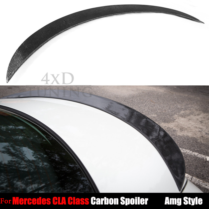 For Mercedes AMG Style Carbon Fiber Rear Spoiler CLA Class W117 C117 CLA200 CLA220 CLA250 CLA45 AMG 2013 2014 2015 2016 2017 2015 2016 amg style w205 carbon fiber rear trunk spoiler wings for mercedes c class c180 c200 c250 c300 c350 c400 c450 c220