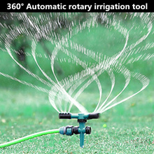 360 Degree Automatic Rotating Lawn Sprinkler Auto Irrigation System For Garden Hose gardening tool Watering flower cooling