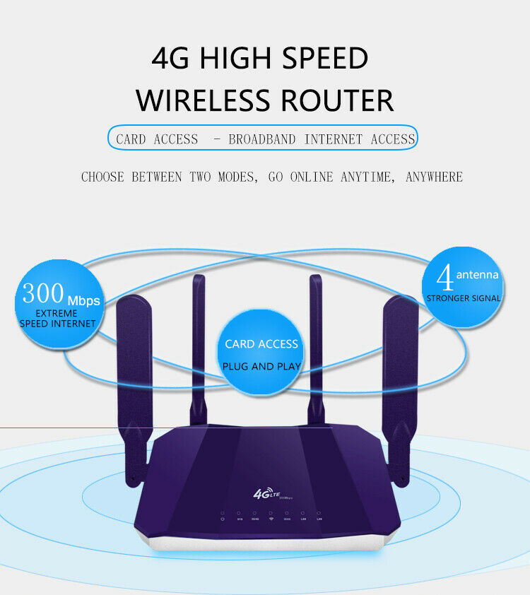 Image 5 - Wireless Wifi Routers 300Mbps Indoor LTE Router 4 Antenna full range of signal-in Wireless Routers from Computer & Office