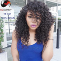 2015 Fashion Sexy Unprocessed Virgin Brazilian Human Hair Curly Lace Front Wigs With Bangs Glueless Lace Front Human Hair Wigs