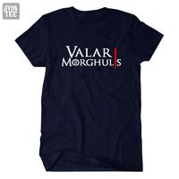 Valar Moghulis Lied van ijs en vuur Game Of Thrones korte T shirt kostuum kleding Alle mannen moet sterven top