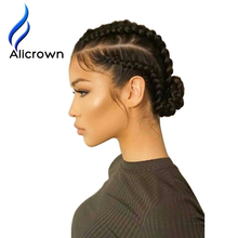 ALICROWN Pre Plucked Full Lace Human Hair Wigs For Black Women Silky Straight Full Lace Wigs