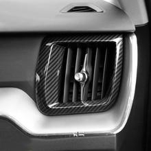 Для левой рукой диск! Для VOLVO XC60 2018 ABS Пластик внутренней стороны Кондиционер Vent Выход Обложка отделка 2 шт. стайлинга автомобилей