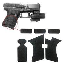 Cinta de agarre con textura de goma antideslizante para Glock 17, 19, 20, 21, 22, 25, 26, 27, 33, 43, funda, accesorios para revistas