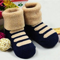 Invierno mantener caliente calcetines para el bebé recién nacido 1-12 meses 10 colores cindy calcetín de algodón espesar calcetines de bebé del niño B009