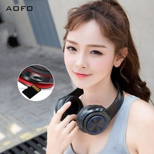 AOFO Bluetooth Headphone Over Ear,Lightweight & Foldable Wired/Wireless Stereo Headset with mic for Cell Phone/TV/PC недорого