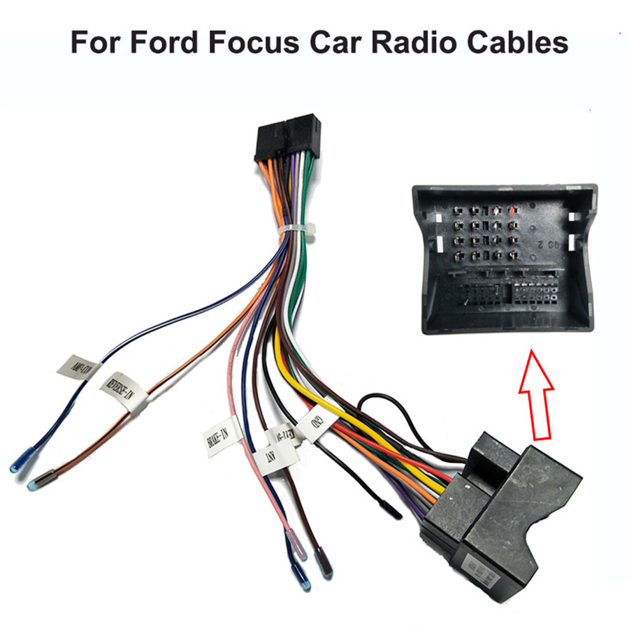 20 PIN Car Multimedia Standard Wiring Harness Connector Adapter 1din or  2din Power Cable Harness for Ford Focus Transit Fiesta Cables, Adapters &  Sockets  - AliExpressAliExpress