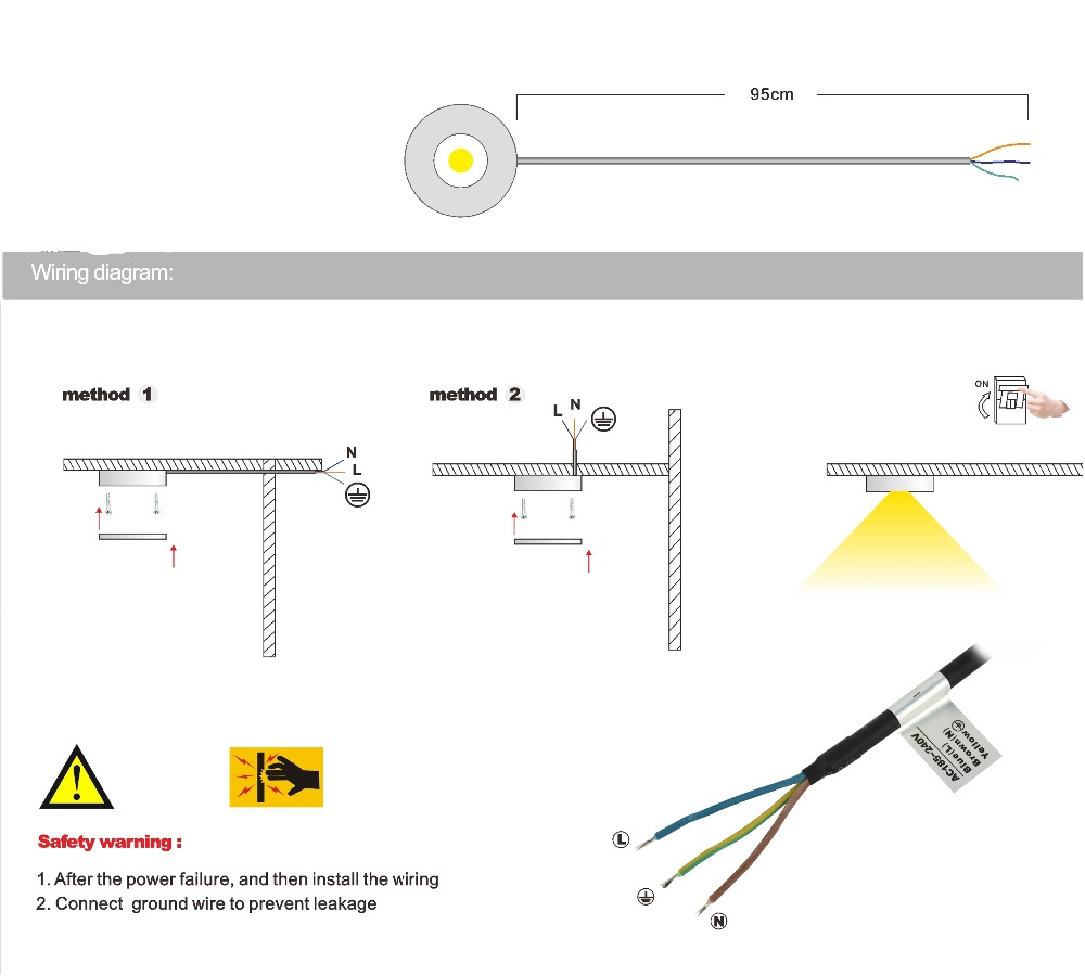 hight resolution of 3w led ip65 cabinet ceiling light ac110v or ac220v cob dimming kitchen case spotlight indoor diy
