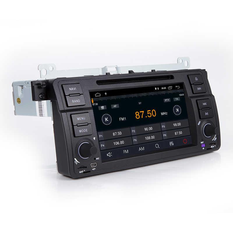 Авторадио 1 Din Android 8,1 dvd-плеер автомобиля для BMW E46 M3 318/320/325/330/335 Rover 75 1998-2006 gps навигации BT Wi-Fi