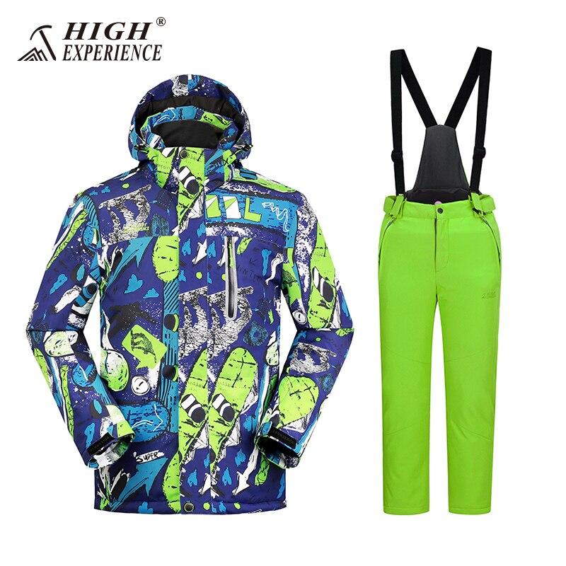 c57e551b5cbe Kids Ski Suit Waterproof Index 15k Warm Coat Windproof Boys Jackets ...