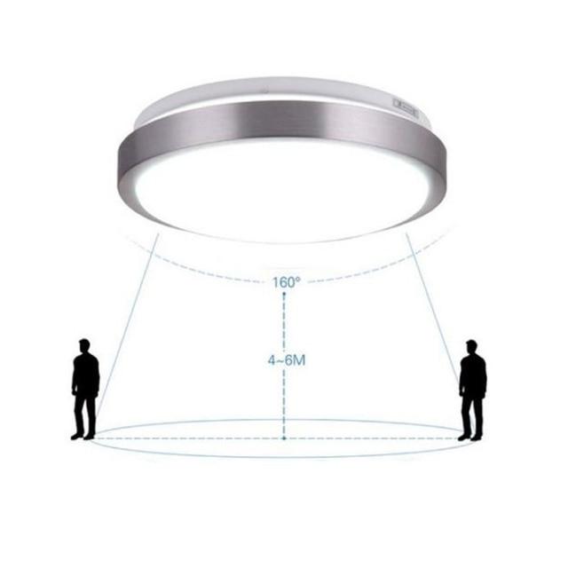 Sensor de movimento CONDUZIU a Luz de Teto, Lineway 12 w 6000 k Lâmpada Do Teto Radar Corpo de iluminação de emergência