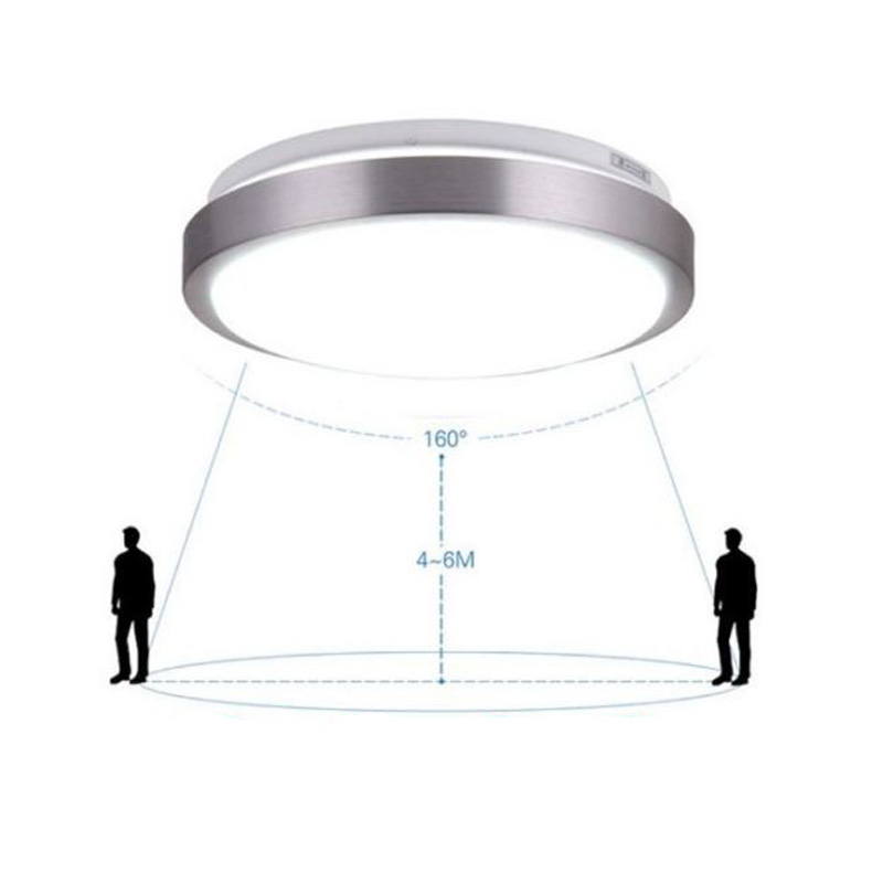 Sensor de movimento conduziu a luz de teto  iluminação da emergência do corpo do radar da lâmpada do teto do lineway 12 w 6000 k|Luzes de teto| |  - title=