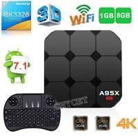 A95X R2 Android 7.1 Smart TV Box RK3288 quad-core 1 г 8 г телеприставки поддержка 4 К 3D H.265 USB 3.0 карты памяти медиаплеер