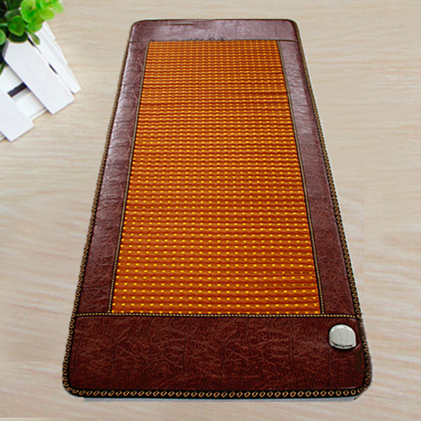Best Quality! Natural Tourmaline Physical Therapy Mat Jade Health Care Pad Infrared Heat Cushion! Free Shipping 50*150CM best selling korea natural jade heated cushion tourmaline health care germanium electric heating cushion physical therapy mat