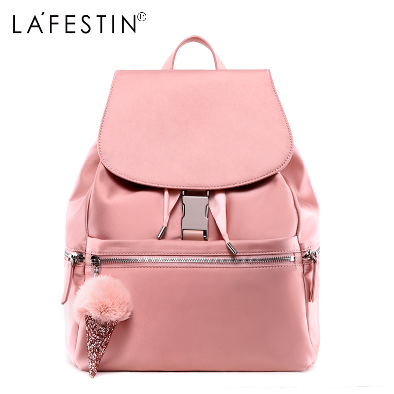 LAFESTIN Women Backpack Hariball Ornament High Quality Bagpacks Female Rucksack Backpack Travel Bag Bolsas Mochilas Sac A Dos new fashion women bag messenger double shoulder bags designer backpack high quality nylon female backpack bolsas sac a dos