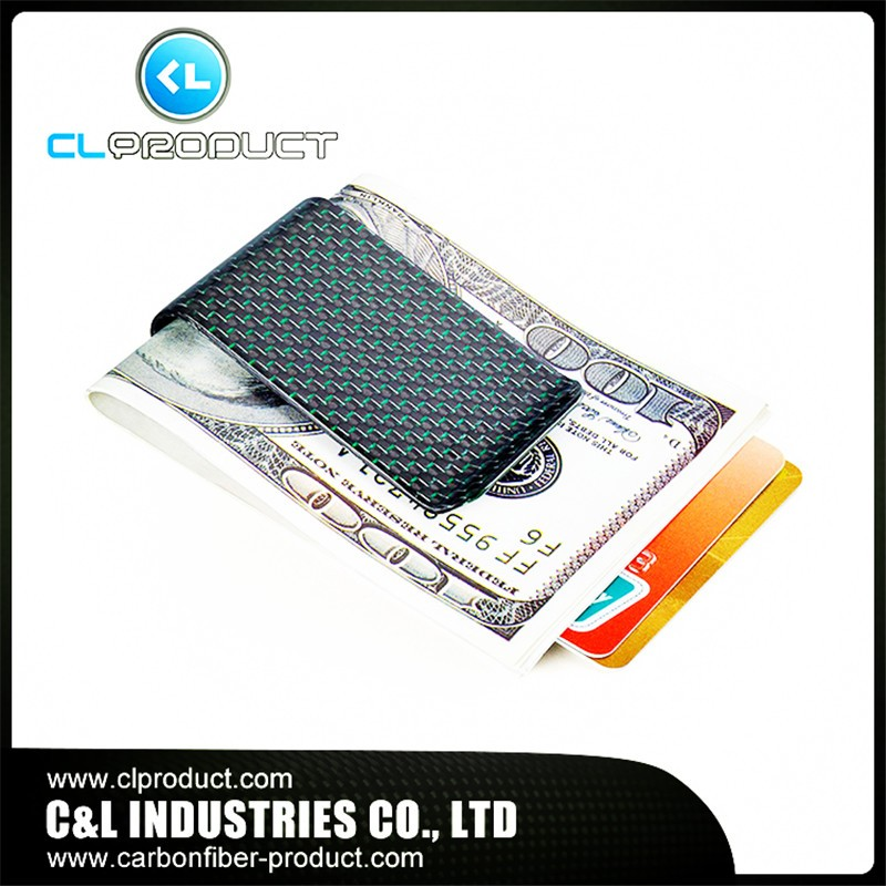 Carbon fiber money clip Green (4)