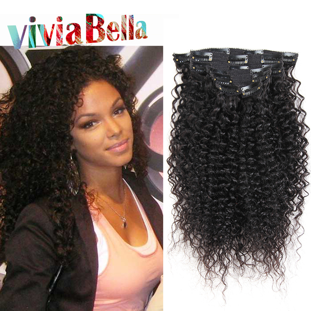 Clip In Human Hair Extensions Kinky Curly Clip Ins Brazilian Virgin