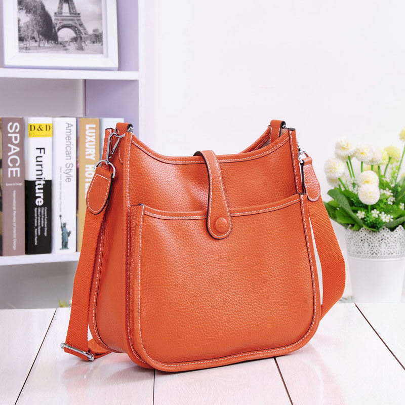LOYOMA Genuine Leather Women Bucket Messenger Bag Cow Real Leather Shoulder Bags Ladies Handbaga Small Purse