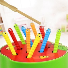 Монтессори милые поймать насекомых познания матч головоломки деревянные игрушки для детей на день рождения/Рождественский подарок