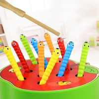 Montessori Cute catch insects cognition match game puzzle wooden Toys For Children Birthday/Xmas Gift