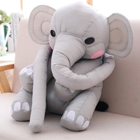 1pc Super soft Long nose crown elephant baby Plush Doll The Small elephant Kawaii toy For Children Gift For Girl freddy 45cm