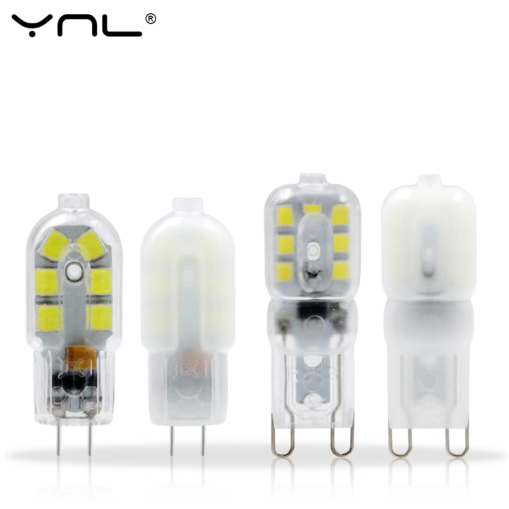 YNL G4 LED Lamp 12V 220V Lampada LED G9 2W 3W SMD 2835 Mini Bulb Milky Or Transparent 360 Beam Angle Lights Replace Halogen G4