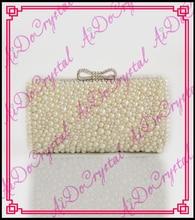 Aidocrystal wholesale popular white evening bag pearl diamond clutch fashion manufacturer handbags