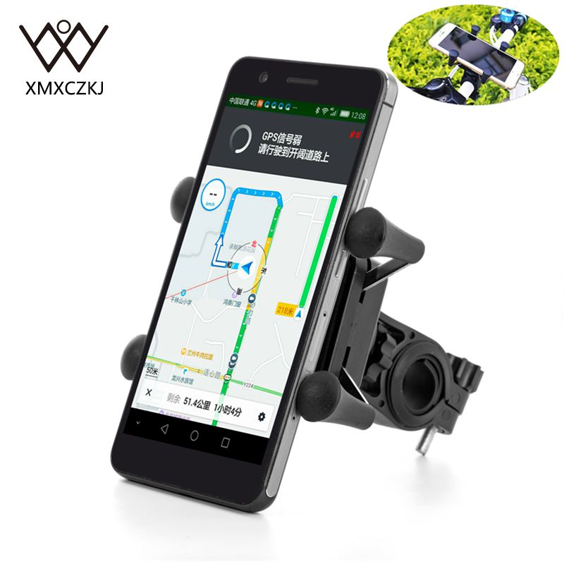 2 PCS Bike Bicycle Motorcycle Handlebar Mount Phone Holder Rotatable Gps Mtb Universal Support Smart Phones and Handheld Device