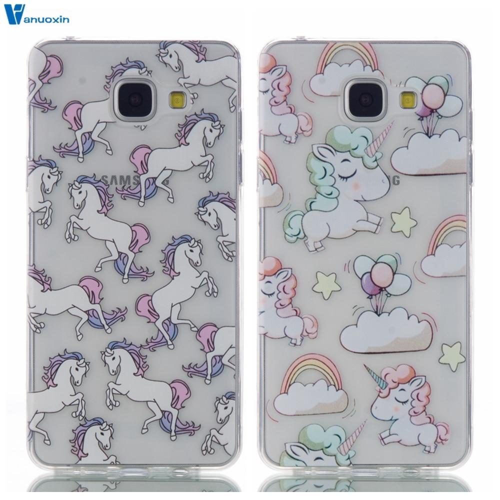 Cartoon Unicorn Soft TPU Case sFor Funda Samsung Galaxy S5 S6 S7 Edge S8 Plus Case Coque For Samsung A3 A5 2017 2016 J3 J5 J510F