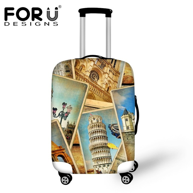 FORUDESIGNS Travel Suitcase Protective Covers Thick Elastic Anti-dust Travel Luggage Cover Apply to18-30 Inch Storage Case 2017