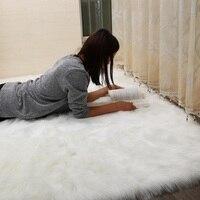 Living Room Bedroom Sofa Table Antiskid Soft Pure White Silk Wool Carpet 70 Cm 140 Cm