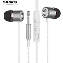 SKhifio S1 Metal Earphone for Phone Headset Earpiece HiFi Dynamic Sports Gaming Earbuds Super Bass for Mobile Tablet Computer