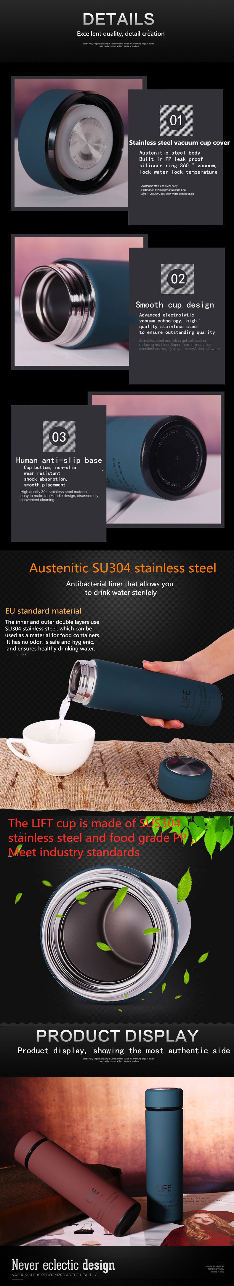 HTB1Z4qgawaH3KVjSZFjq6AFWpXa4 500ML Hot Water Thermos Tea Vacuum Flask With Filter Stainless Steel 304 Sport Thermal Cup Coffee Mug Tea Bottle Office Business