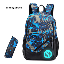 цена Senkey & Style New Backpack Men's Studentbag Oxford Casual Computer Back Pack Luminous Travel Backbags Male Luggage Backpacks онлайн в 2017 году