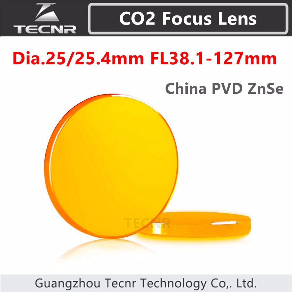 China ZnSe CO2 laser focus lens diameter 25 4MM FL50 8 76 2 101 6 127mm
